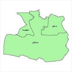 نقشه بخش های شهرستان اهواز