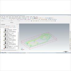 فایل ماشین کاری قطعه کار با نرم افزار مسترکم (Mastercam)  به همراه جی کدهای CNC
